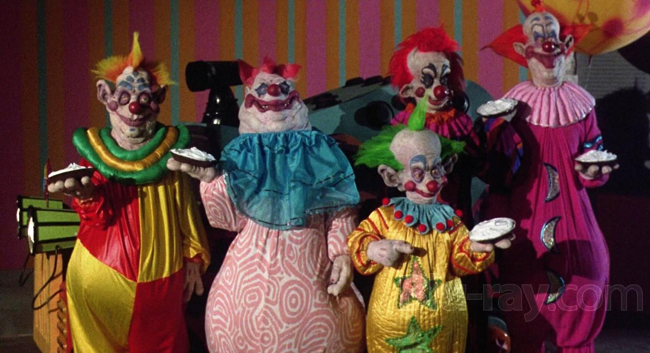 Scene from the 80s horror movie Killer Klowns from Outer Space